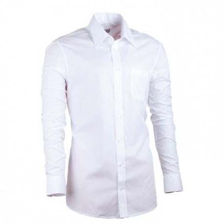 Bílá košile rovná pánská 100 % bavlma non iron Assante 30003