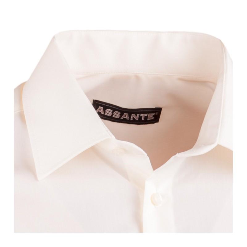 Bílá pánská košile dlouhý rukáv vypasovaný střih Brighton 110028, Velikost 41/42 (L)