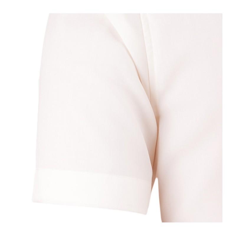 Bílá pánská košile krátký rukáv vypasovaný střih Brighton 110053, Velikost 41/42 (L)