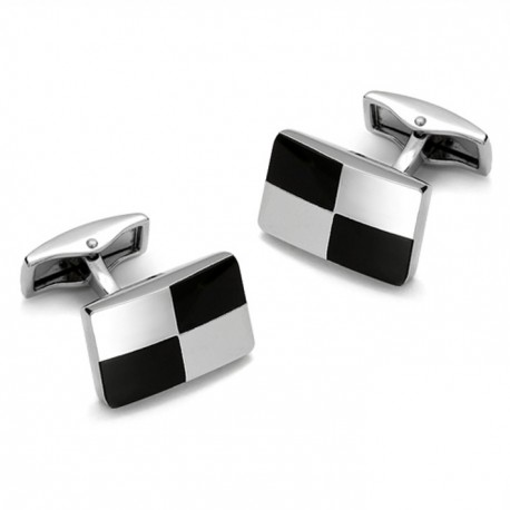 Manžetové knoflíčky stříbrné barvy Assante 90509