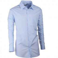 Pánská košile slim fit modrá Assante 30471