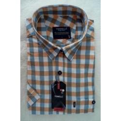 Modrobílooranžová košile Tonelli110804