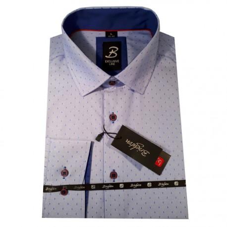 Stříbrná kravata slim Greg 91177
