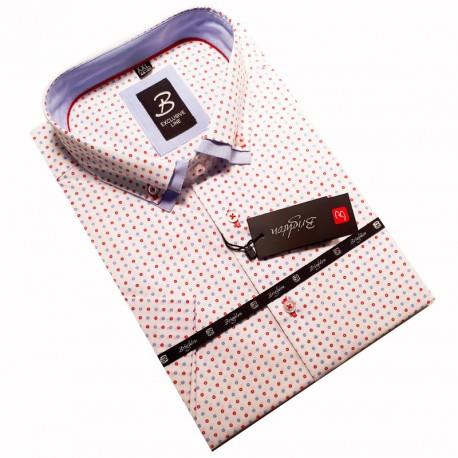 Stříbrná kravata slim fit Greg 99118