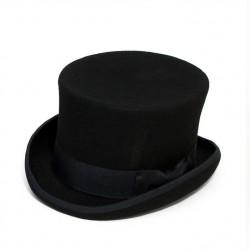 Černý cylindr anglický klobouk vlna Mes 85019