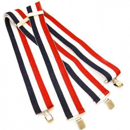 Pánské šle červeno modro bílé super široké Assante 90130