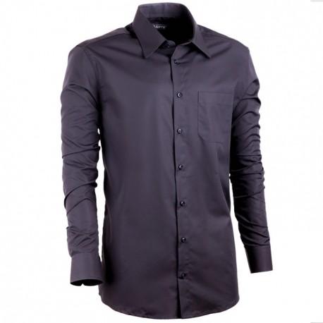 Prodloužená košile slim modrá indigo Assante 20405