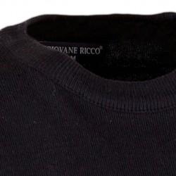 Prodloužená košile na manžetový knoflíček regular černá Assante 20111