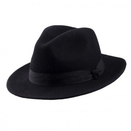Černý pánský klobouk Assante 85028