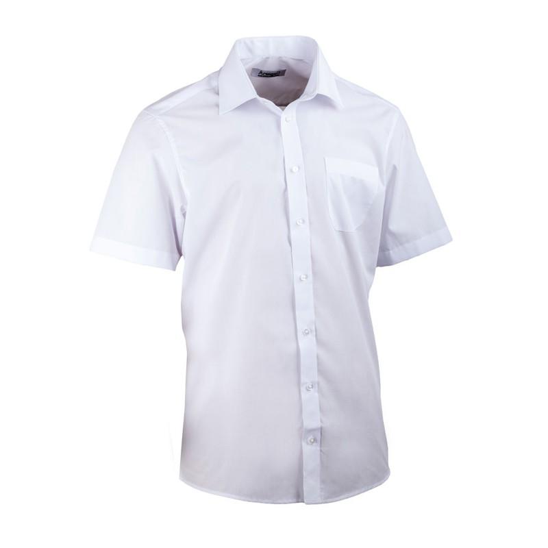 Bílá pánská košile dlouhý rukáv s dvojitým límcem Brighton 109964, Velikost 43/44 (XL)