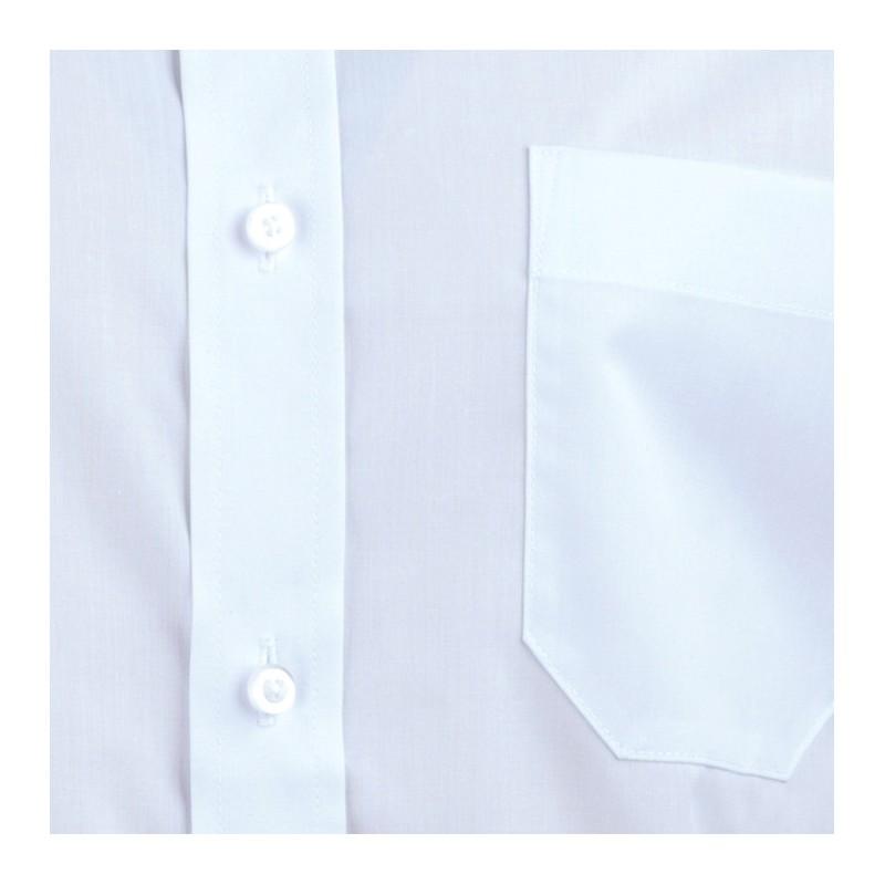 Bílá pánská košile dlouhý rukáv s dvojitým límcem Brighton 109968, Velikost 41/42 (L)