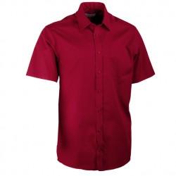 Vínově červená pánská košile rovná Aramgad 40333