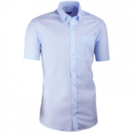 Modrá pánská košile slim fit s krátkým rukávem Aramgad 40434