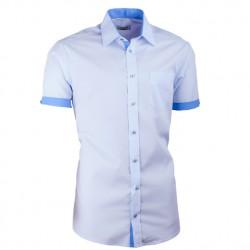 Modrá košile slim fit kombinovaná Aramgad 40436