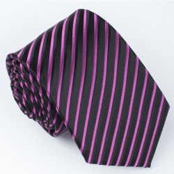 Tmavě červená kravata mřížka Greg 93200