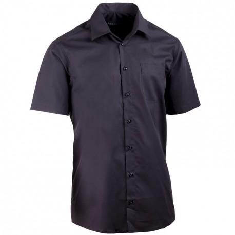 Černá pánská košile rovná 100 % bavlna non iron Assante 40116