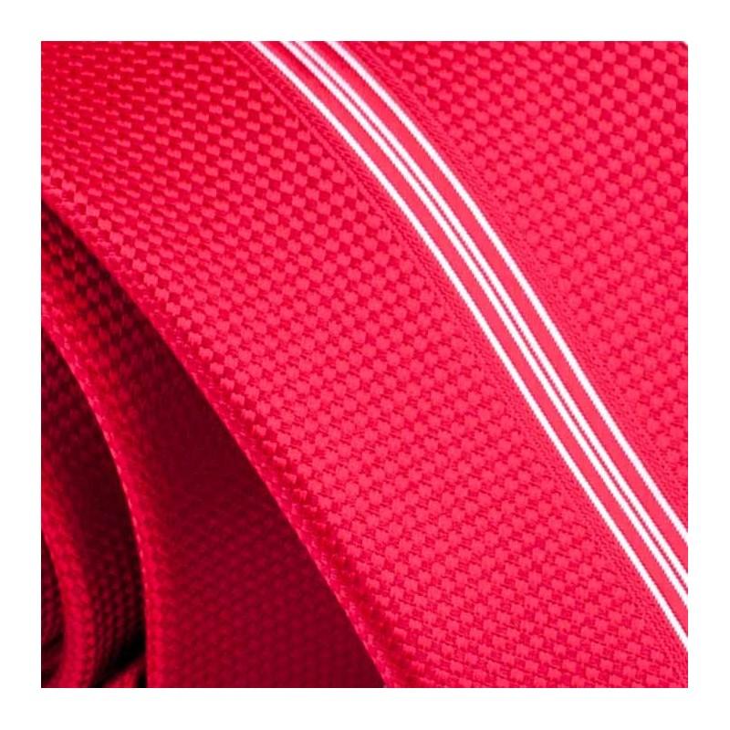 Bílomodrá pánská košile s krátkým rukávem rovný střih Brighton 109983, Velikost 41/42 (L)