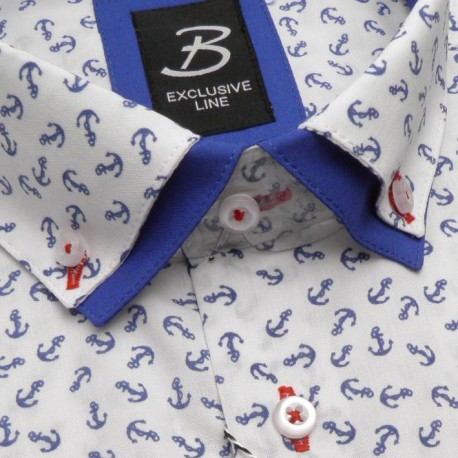 Prodloužená košile slim šedá Assante 20120