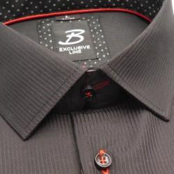 Prodloužená košile slim tmavě čevená Assante 20310