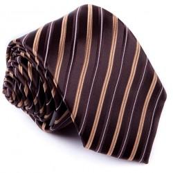 Hnědá kravata pruhovaná Greg 92891