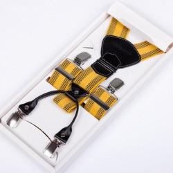 Žluté kšandy luxusní kožená poutka Assante 90028