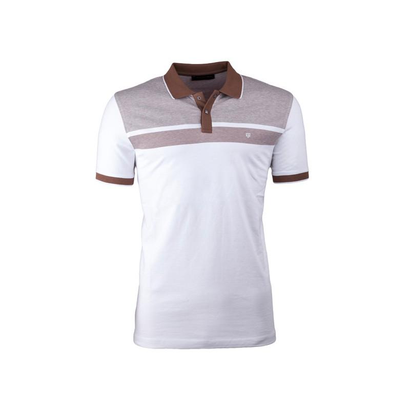 Modrobílá pánská košile vypasovaný střih Brighton 109816, Velikost 39/40 (M)