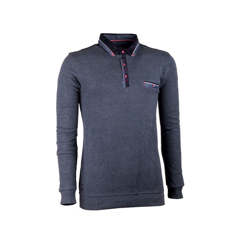 Bílá s modrým vzorem pánská košile slim fit Brighton 109902, Velikost 41/42 (L)