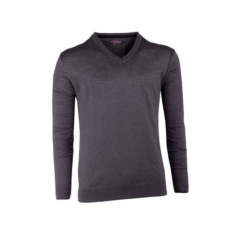 Šedobílá pánská košile slim fit Brighton 109904, Velikost 41/42 (L)