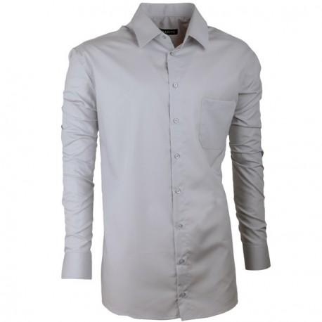 Extra prodloužená pánská košile slim šedá Assante 20115