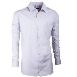 Prodloužená pánská košile slim šedá Assante 20120