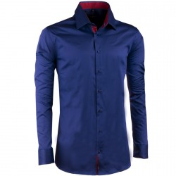 Kobaltově modrá pánská košile slim 100% bavlna non iron Assante 30487