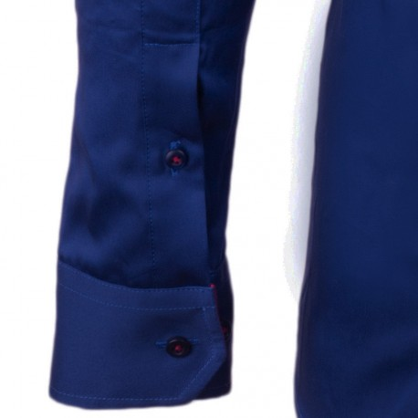 Modromodrá 100 % bavlna košile Tonelli 110955
