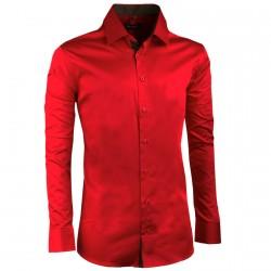 Modrovínová károvaná košile Tonelli 110965