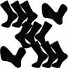 Multipack ponožky 9 párů bavlněné černé pánské Assante 703