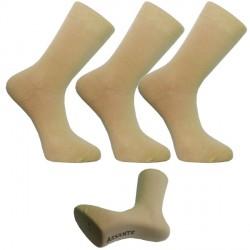 Multipack ponožky 3 pár béžové antibakteriál stříbro Assante 73