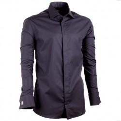 Černá pánská košile vypasovaná Assante 30149