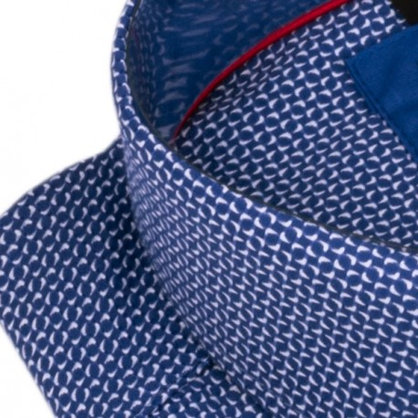 Pánský motýlek barva modrá-růžová Assante 90389