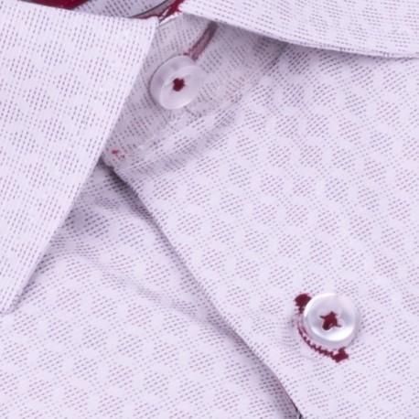 Bílá košile s červenomodrým Károváním, nadměrná košile Tonelli 110865