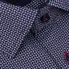 Modrá košile s tmavě modroukostkou nadměrná košile Tonelli 110862