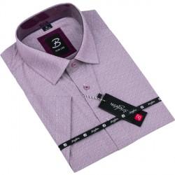 Ocelově modrá košile s šedouKostkou nadměrná košile Tonelli 110861