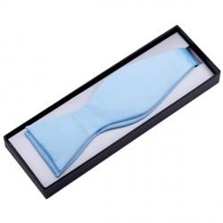 Světle modrý vázací motýlek Assante 90356