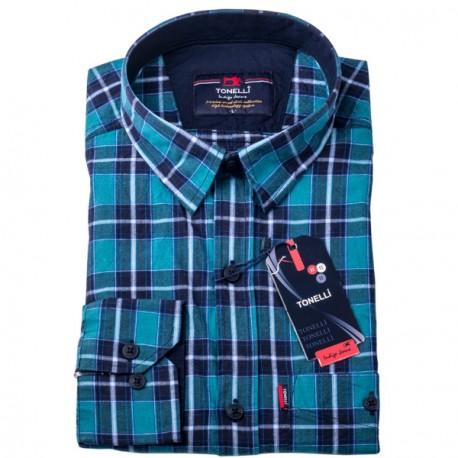 Modrá košile 100 % bavlna Tonelli 110964