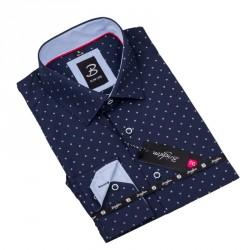 Vzorovaná košile Brighton tmavě modrá 109919