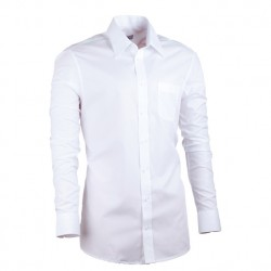 Prodloužená košile slim bílá Assante 20005