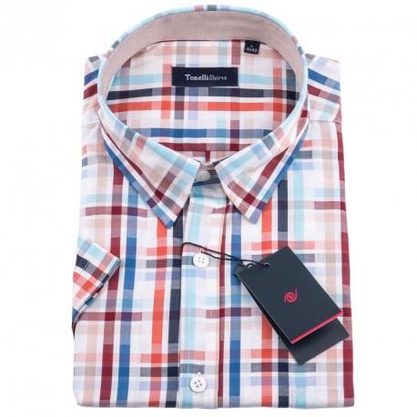 Bílomodrá košile Tonelli 110834