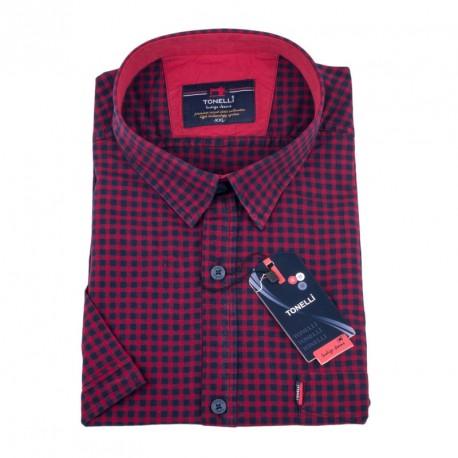Tmavě červená košile Tonelli 110848