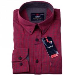 Červenomodrá kostka košile Tonelli 110982