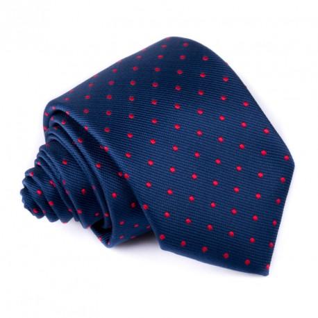 Modrá kravata s puntíky Greg 94953