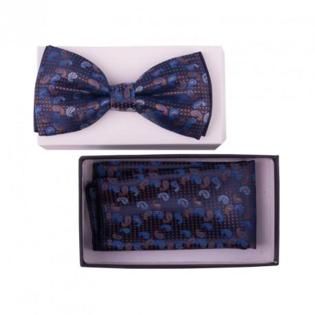Pánský motýlek barva modrá Assante 90320
