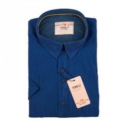 Pánská košile modrá krátký rukáv Tonelli 110874